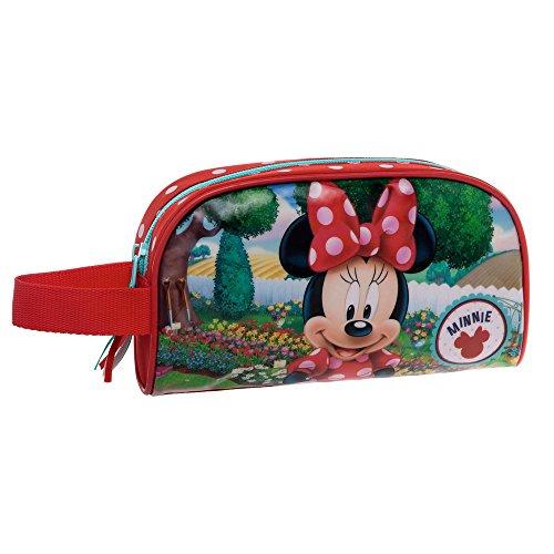 disney-4424151-minnie-garden-beauty-case-da-viaggio-poliestere-rosso-21-cm