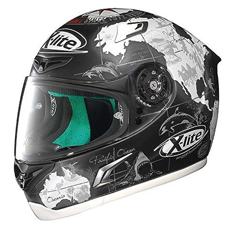 X-lite X-802RR Replica C.Checa Casque intégral de moto En fibre composite- Blanc/noir mat