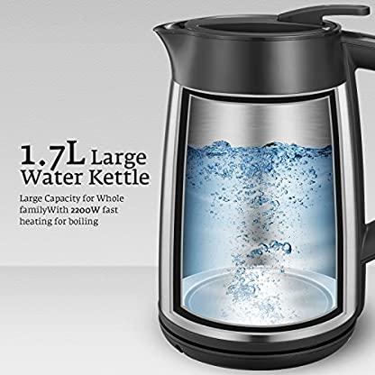 AICOK-Wasserkocher-Edelstahl-mit-Temperatureinstellung-Warmhaltefunktion-6-Stunden-17-Liter-Wasser-2200-Watt-Automatische-Abschaltung-durch-patentierten-Strix-Contoller-Kabellos-Edelstahl