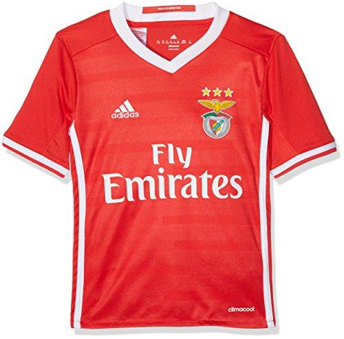 adidas Kinder Benfica Lissabon Replica Trikot, Benfica Red/White, 128 (Benfica Trikot Fußball)