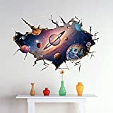 Crazy lin 3D Star Sky Wall Sticker Space-dimensional wall stickers living room bedroom TV backdrop stickers Space Decal Kids Bedroom Decoration(SK9066B)