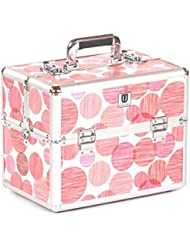Urbanity Classic Professional Aluminium Beauty Case Makeup Box Red Spots