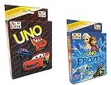 Mattel 2pezzi gioco di carte, regina di ghiaccio uno + Cars uno im Pacco risparmio