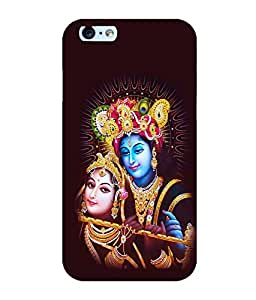 Printtech Lord Radha Krishna God Shockproof Back Case Cover for Apple iphone 6/6s