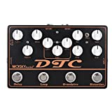 ammoon 4-in-1 Distorsion pédale d'effet guitare électrique + Overdrive + Loop + Delay MOSKY DTC