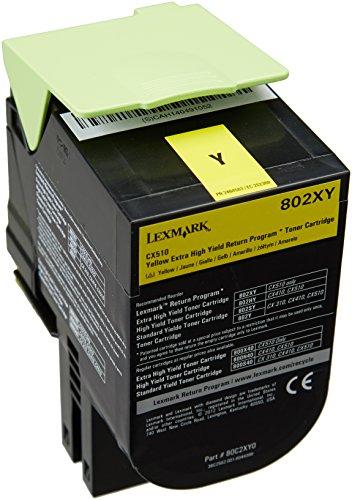 Preisvergleich Produktbild Lexmark 80C2XY0 Extra High Capacity Toner Cartridge, gelb