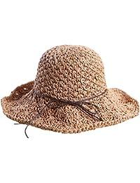 ZiXing Cappelli di Paglia Estate UPF50 + Borsalini a Tesa Larga cap Floscio Cappello  da Spiaggia 2740ce6c1199