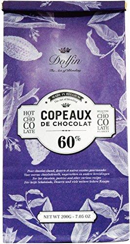 Dolfin Trinkschokolade-Flocken 60% 200g Beutel