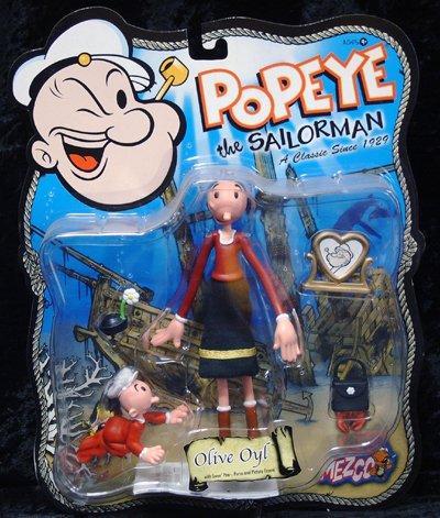 Popeye the Sailorman / der Seemann - Mezco 2001 - Olive Oyl & Swee Pea