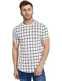 LE BOURGEOIS Men's Square Print T-Shirt