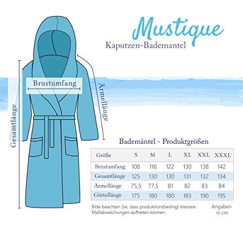 etérea Mustique Kuschelfleece Kapuzen-Bademantel Saunamantel Morgenmantel für Damen und Herren - Unisex Weiß