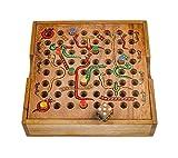 Schlange & Leiter - Würfelspiel - Gesellschaftsspiel - Brettspiel aus Holz
