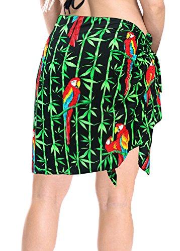 costume da bagno costume da bagno breve sarong beachwear mini insabbiamento donne gonna a portafoglio pareo Nero