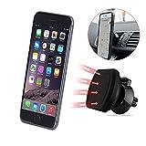 #3: Magnetic Air vent Mount/Car Mount/Desk Mount/Car mobile holder. Universal compatible for all Smartphones with 360 degree rotation. For Cars & desks. Mobile holder (Black) | 100% original