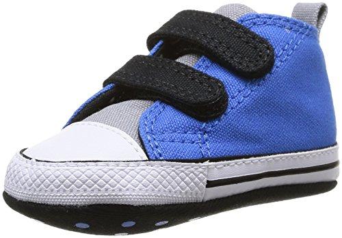 First Star Crib Schuhe (Converse Chuck Taylor Crib Scratch, Jungen Babyschuhe - Lauflernschuhe  Blau Bleu (Bleu/Noir) 17)