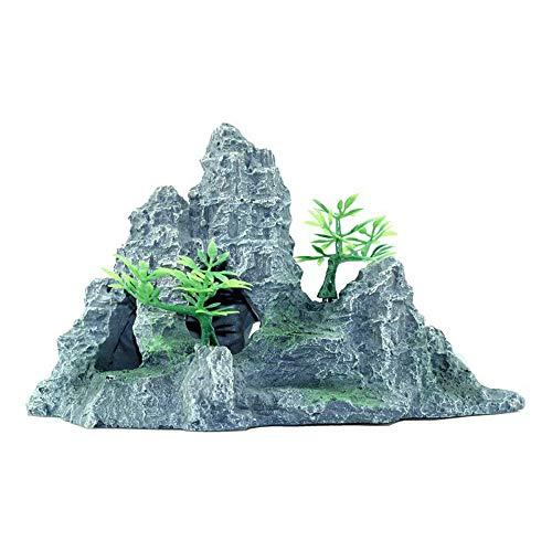 Decorazioni per acquario,ll rocaille serbatoio di pesce decorazione finto acqua erba pacchetto di acqua pacchetto di simulazione ornamenti di pietra