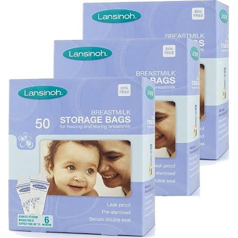 Confezione da 50, 100, 150 e 200 LANSINOH. Sacchetti per conservare latte materno!