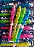 Unbekannt 12st unsichtbaren Stift schattenfreie Pen magische Stift mit UV-Licht (zufällige Farbe)