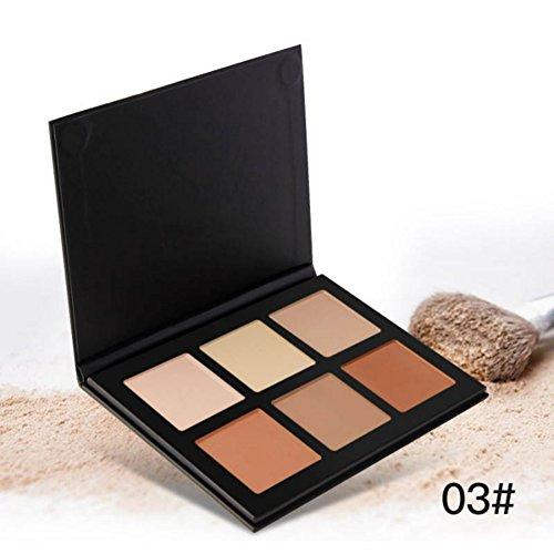BOBORA 1PC Creme Kontur Palette Kit Pro 6 Farben Concealer Makeup Palette Concealer Gesicht Grundierung Konturpalette