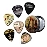 Nirvana Kurt Cobain Set of 6 Loose Guitar Médiators in Tin ( Collection D )