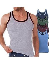 5er Pack MT® Herren Tanktop Melangefarben - Herren Unterhemden Achselhemden Sporthemden im 5-Farb-Pack