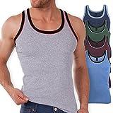 5er Pack MT® Herren Tanktop Melangefarben - Herren Unterhemden Achselhemden