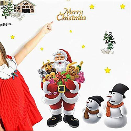 SIUS0Q Weihnachtsmann Geschenke Wandaufkleber Wasserdicht Fensteraufkleber Weihnachtsschmuck Für Zuhause Natal Aufkleber Liefert -