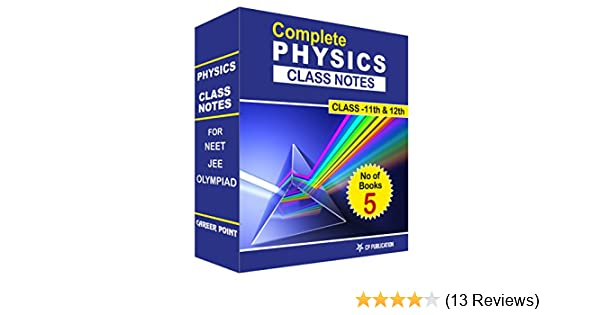 Class Notes Of Complete Physics Set of 5 Volumes By Career Point