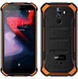 【2019】DOOGEE S40 (3GB + 32GB) robusta 4G Android 9,0 Rugged Smartphone in Offerta - 5,5'' HD+ (Gorilla Glass 4) IP68 impermeabile Resistenti Cellulare militare, dual SIM, 4650mAh, GPS/NFC- Arancio