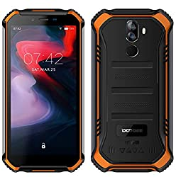 "DOOGEE S40 (3GB+32GB) Robustes 4G Android 9,0 Handy ohne Vertrag,5,5"" HD (Gorilla Glass 4) IP68 Outdoor wasserdichtes Telephone DUAL SIM Militär Smartphone, 4650mAh Akku, Quadcore 1,5GHz NFC - Orange"
