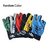 Aolvo Outdoor, Sport-Handschuhe, Salzwasser Angeln/Jagd/Sonnenschutz/Touchscreen-Handschuhe, rutschfest Reibung Sportschuhe, Atmungsaktiv, leicht, mit Low Cut Finger Glove
