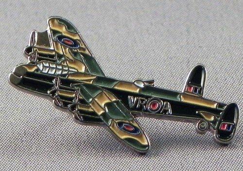 Metal Enamel Pin Badge WW2 Lancaster RAF Aeroplane