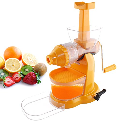 Magikware Fruit & Vegetable Juicer with Waste Collector, Orange (Better Preformance)