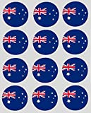 12 australian Flag rice paper fairy / cup cake 40mm toppers pre cut decoration