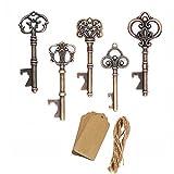 amajoy 50Stück sortiert Vintage Skelett Schlüssel Openers Kupfer Antik Hochzeit Gastgeschenken Geburtstag Geschenke