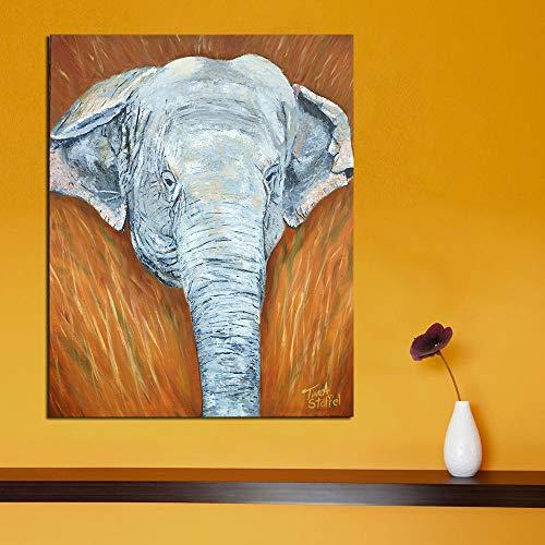 ZJMI Pintura Decorativa Decoración de Pared Carteles de Elefantes e Imprime la...