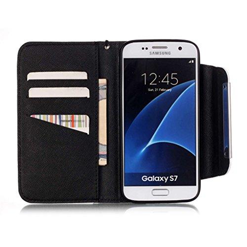 Trumpshop Smartphone Case Coque Housse Etui de Protection pour Samsung Galaxy S6 + This iPhone is Locked + Smartphonecoque Portefeuille PU Cuir Anti-Choc Crâne Une fleur