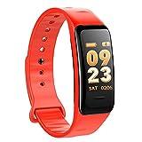 ConPush Fitness Tracker IP67 Braccialetti Fitness Contapassi con Monitor della frequenza cardiaca per iPhone Samsung Andorid (Rosso)