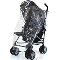 Rain Cover For Silver Cross PoP Fizz Stroller Pushchair Buggy Raincover (Luna)