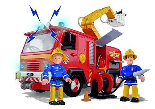 Camión Júpiter de Sam el bombero con luz, sonido y 2 figuras articuladas (Simba 9257661)