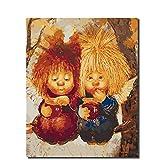 Peinture par Numéros pour Débutant Junior, Jeu De Peinture par NumérosM. Chienavec des Pinceaux, Peintures Et Toile Décor À La Maison 16X20 Pouces sans Cadre