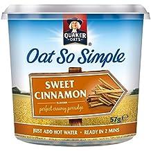 Avena Quaker tan simple 57g dulce de canela Gachas Pot