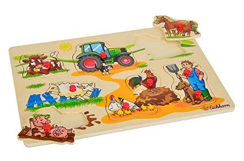 HEROS 100005451 - Eichhorn, Steckpuzzle, 30 x 20 cm