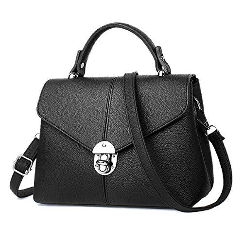 2pcs Modo Delle Signore Di Grande Capienza Messenger Bag Multi-color Black