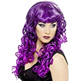 Long Curly Purple And Black Siren Adult Costume Wig