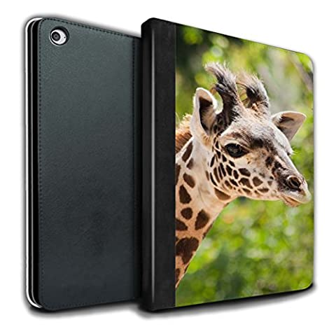 Stuff4 Coque/Housse de Livre Cuir PU Case pour Apple iPad Air 2 tablette / Girafe Design / Animaux sauvages Collection
