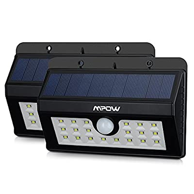 (20 Bright Nodes)LED Solar Lights, Mpow 3-in-1 Wireless Weatherproof Security Light Motion Sensor Lamp with 3 Intelligent Modes for Garden, Outdoor, Fence, Patio, Deck, Yard, Home, Driveway, Stairs, Outside Wall etc.