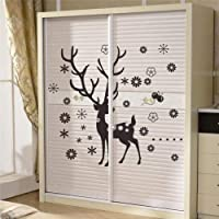 wassaw Father Christmas Reindeer Stickers Animals Room Covers Decor Diy Vinyl Gift Home Decals Festival Mual Art Poster