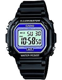 Casio CASIO COLLECTION F-108WHC-1BEF - Reloj digital de cuarzo unisex, correa de resina color negro (cronómetro, luz, alarma)