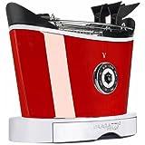 Casa Bugatti Toster 13-VOLOC3, Edelstahl, rot